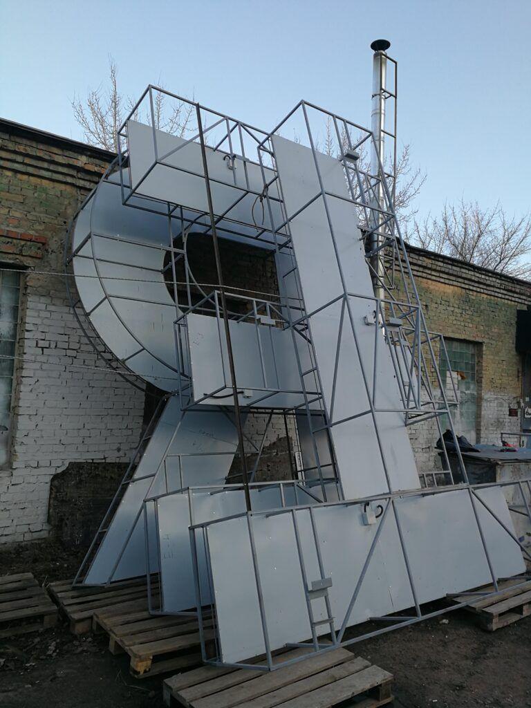 """Виготовлення дахової вивіски для ТРЦ """"Retroville"""""""