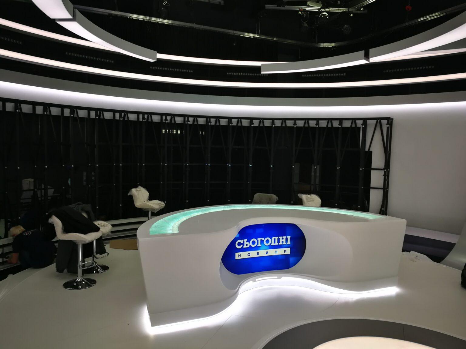 Оформление студии новостей для телеканала «Украина»